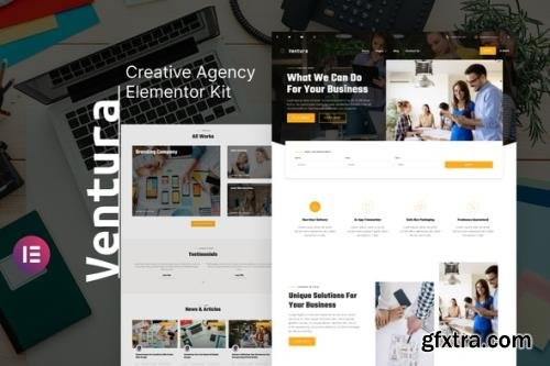 ThemeForest - Ventura v1.0.0 - Creative Agency Elementor Template Kit