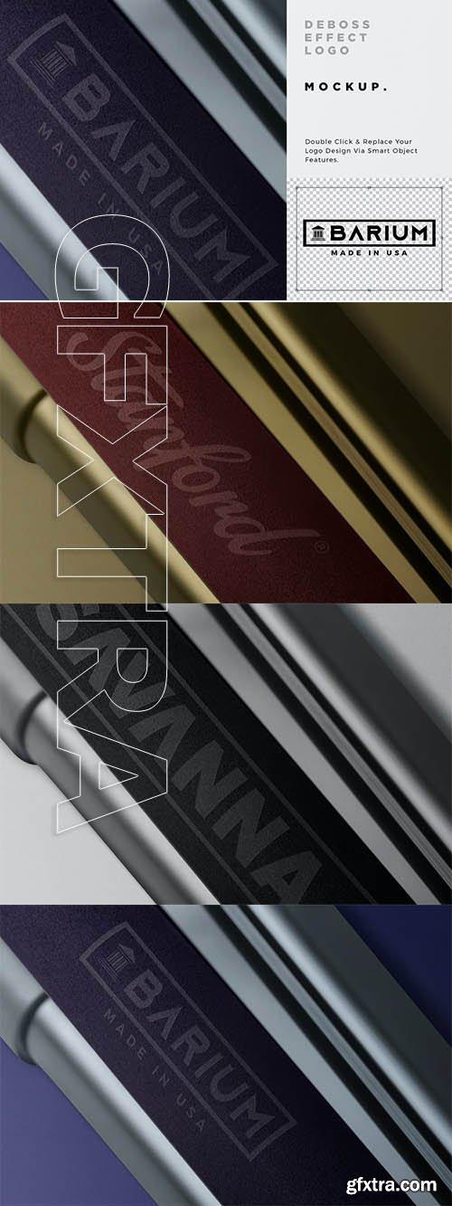 Debossed Foam Printing Logo Mockup
