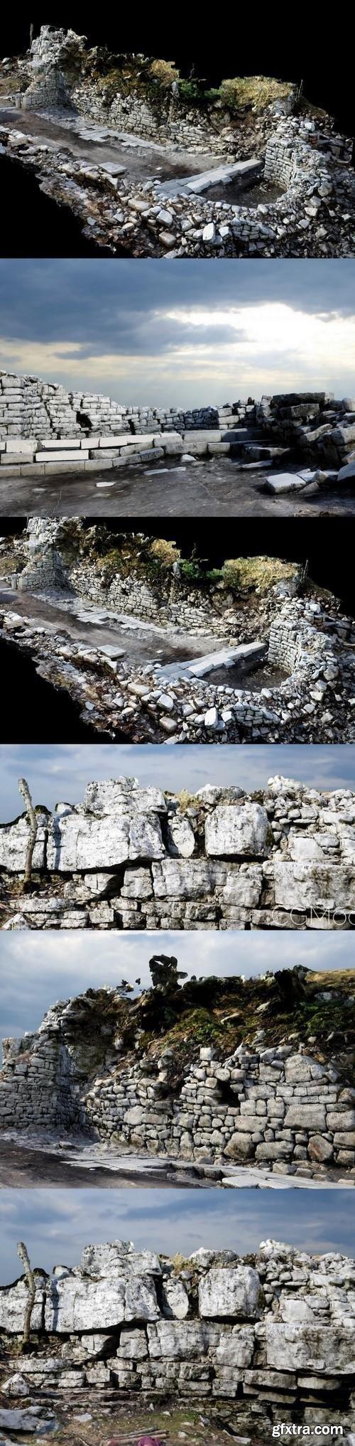 Roman Ruins 3D Model