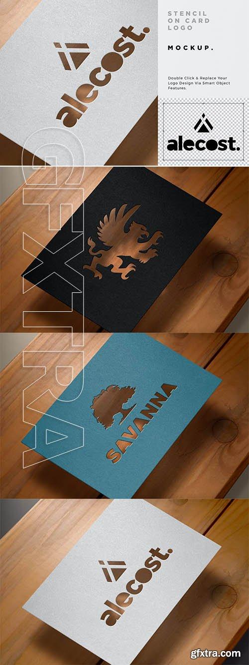 Paper Cut Logo Mockup