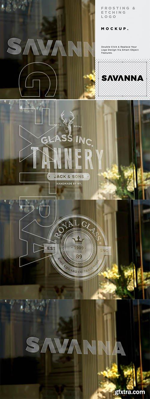 Shop Window Glass Logo Mockup