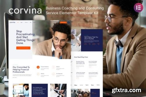 ThemeForest - Corvina v1.0.1 - Business Coaching & Consulting Service Elementor Template Kit - 30336692