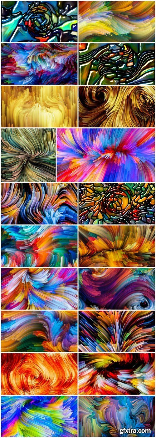 Exploding Color and Abstract Backgrounds 2 - Set of 20xUHQ JPEG Professional Stock Images