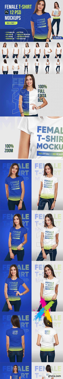 CreativeMarket - Female T-Shirt Mockups Vol 3 Part 1 5336757