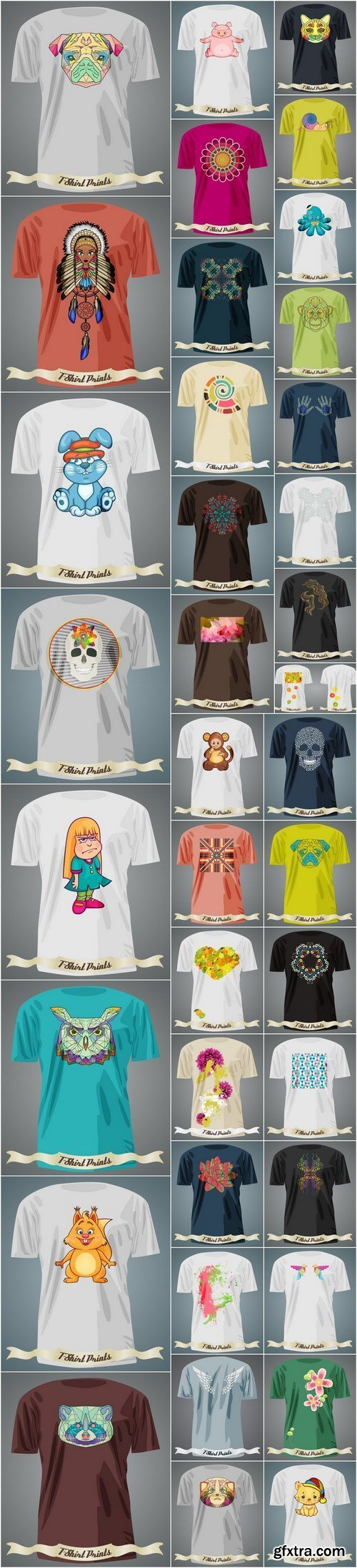 T-Shirts Design 6 - Set of 38xEPS Professional Vector Stock