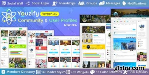 CodeCanyon - Youzify 3.0.7 - BuddyPress Community & WordPress User Profile Plugin - 19716647 + Add-Ons - NULLED