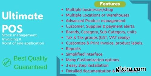 CodeCanyon - Ultimate POS v4.0 - Best Advanced Stock Management, Point of Sale & Invoicing application - 21216332 - NULLED