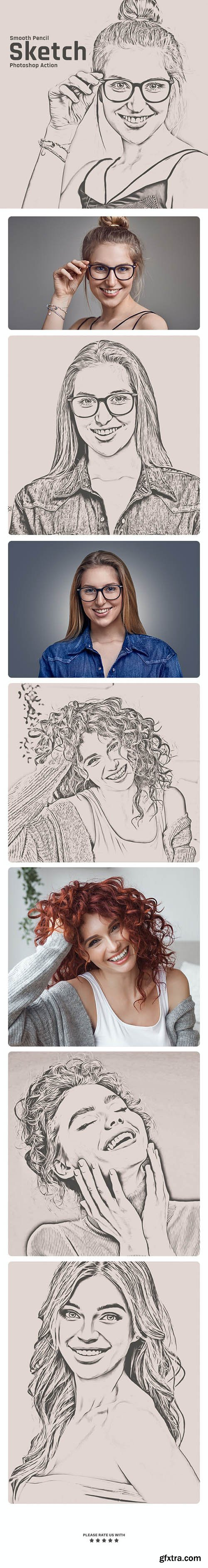 GraphicRiver - Smooth Pencil Sketch Photoshop Action 30545695