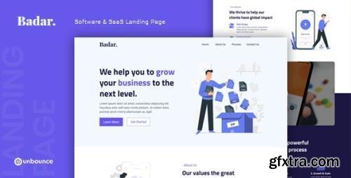 ThemeForest - Badar v1.0 - Software & SaaS Unbounce Landing Page - 28841685