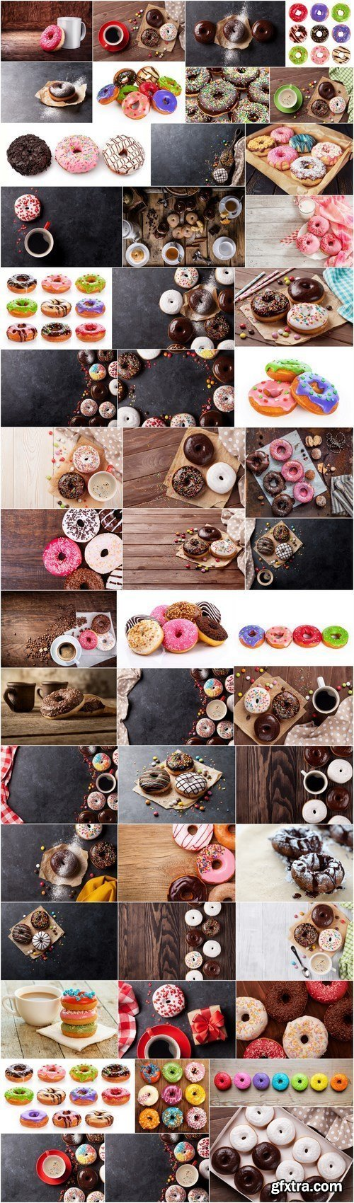 Tasty Doughnuts - Set of 50xUHQ JPEG Professional Stock Images