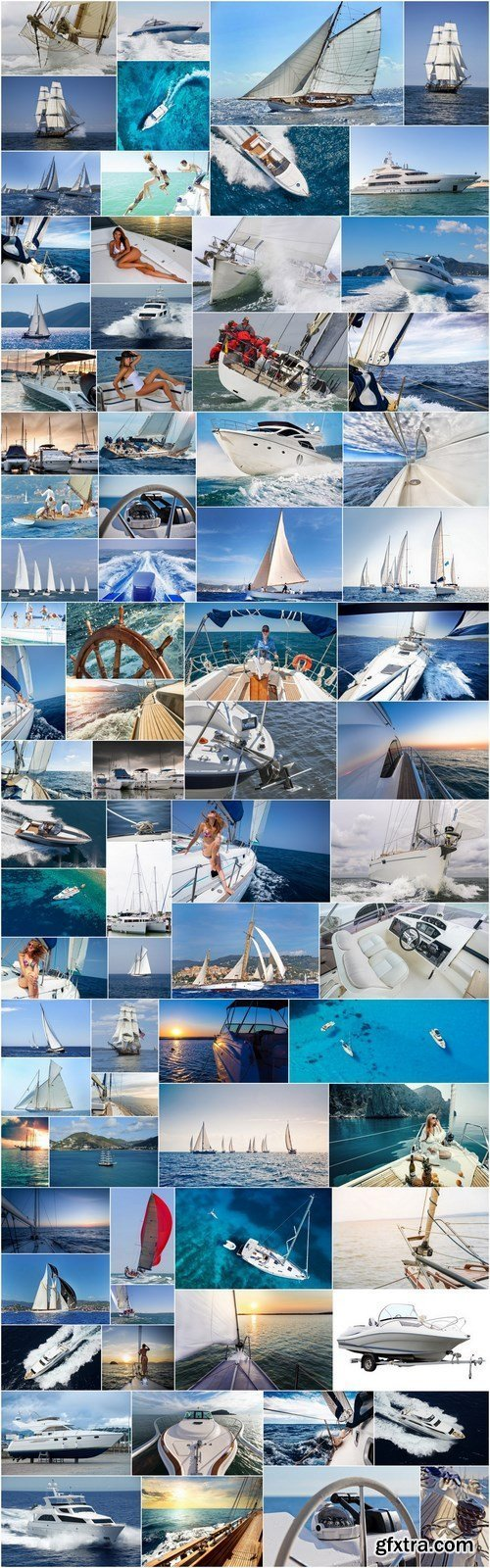 Yachts, Yachting, Regata and Sailing - Set of 78xUHQ JPEG Professional Stock Images