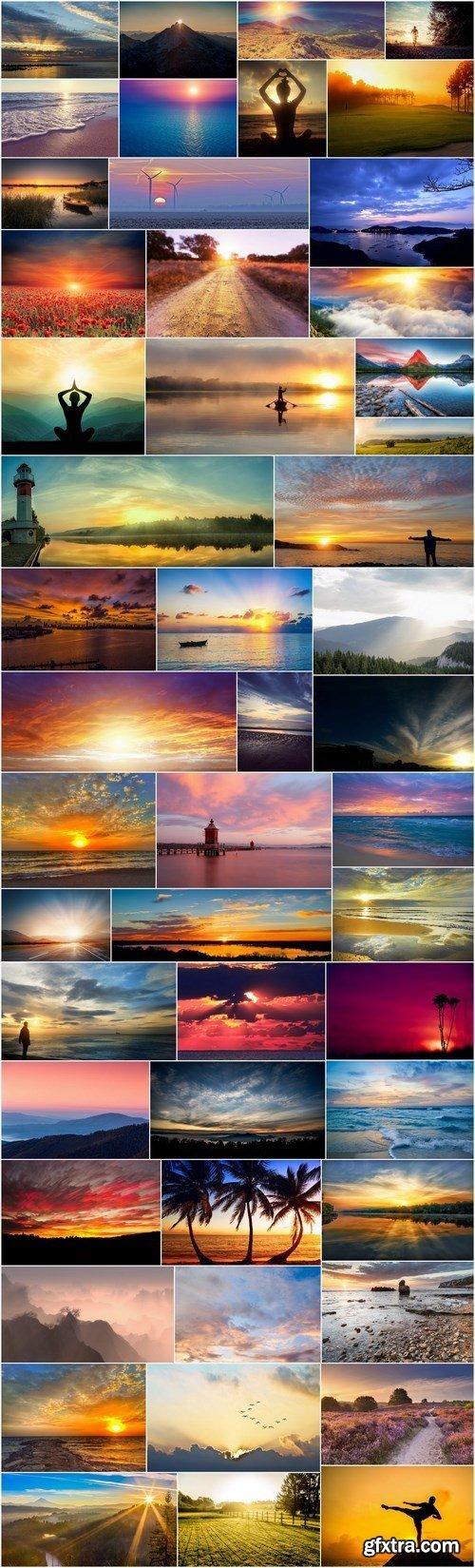 Beautiful sunsets and sunrises - 50xUHQ JPEG