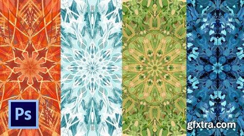 Digital Illustration: Colorful Mandalas On Photoshop Inspired By Nature