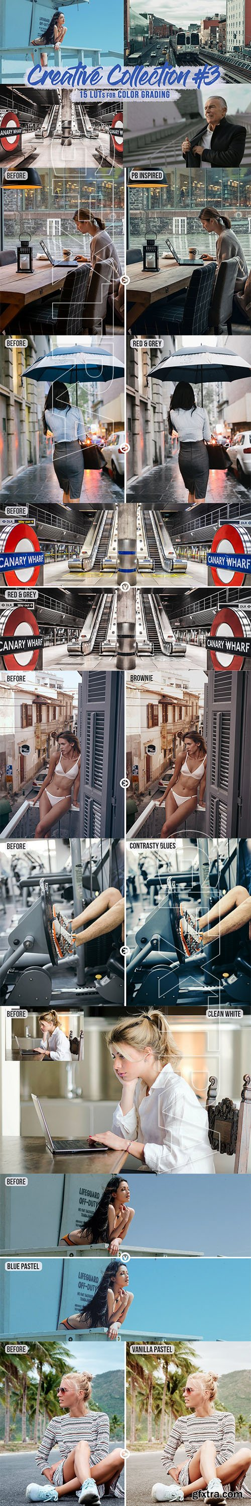 CreativeMarket - Creative Pack#3 - 15 LUTs/Filters 5815910