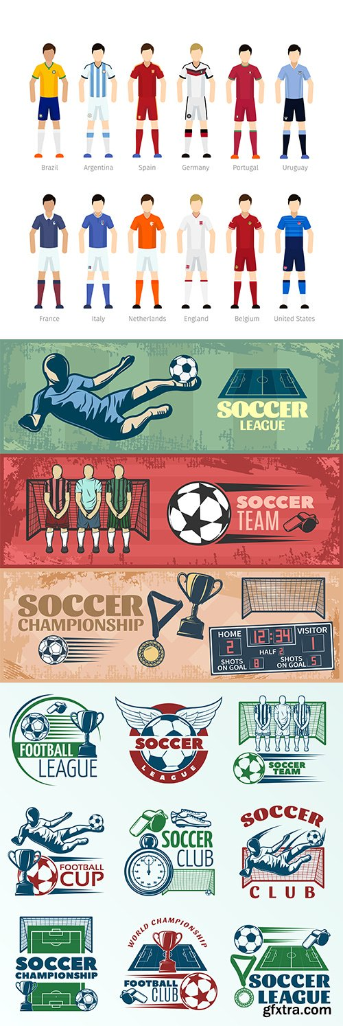 Soccer vector collection