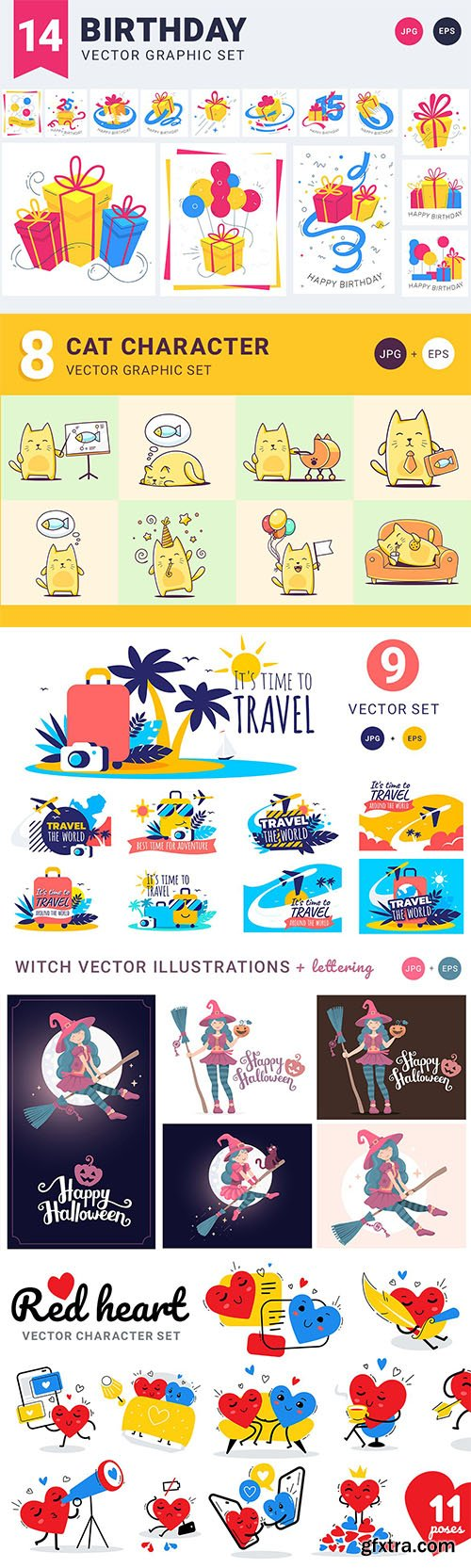Holidays Vector Graphic Set