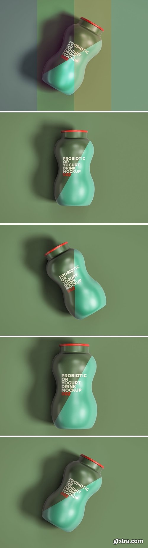 Probiotic Or Yogurt Drink Mockup 002