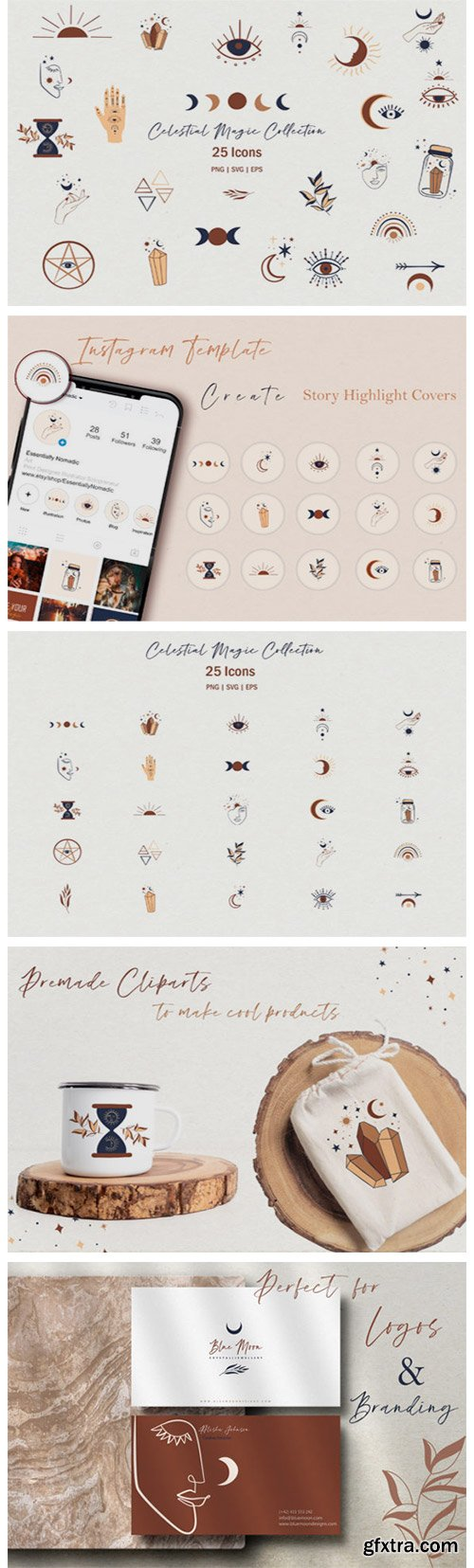 Celestial Magic Clipart Set 4152070