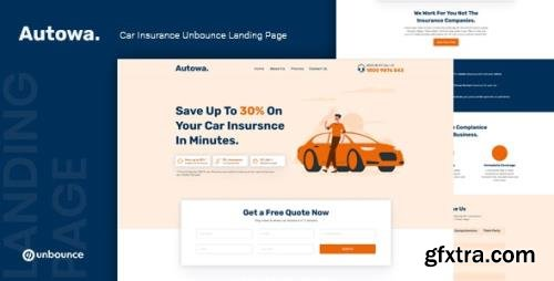 ThemeForest - Autowa v1.0 - Car Insurance Unbounce Landing Page Template - 29483924