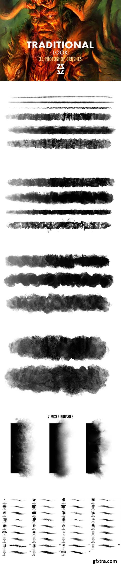 CreativeMarket - Traditional Look Brush Set 5907463