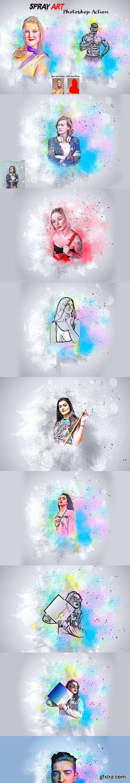 CreativeMarket - Spray Art Photoshop Action 5988838