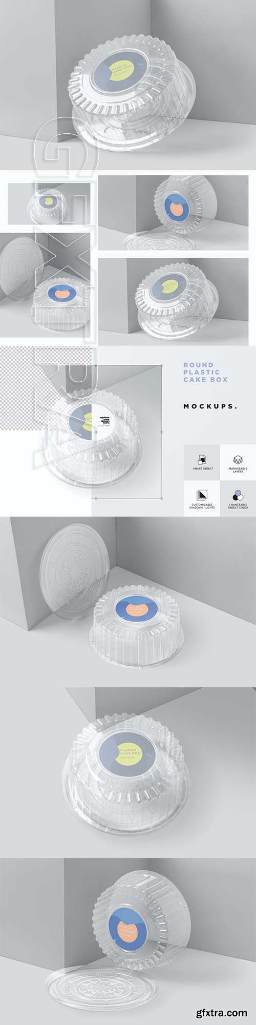 Disposable Round Cake Container Mockups