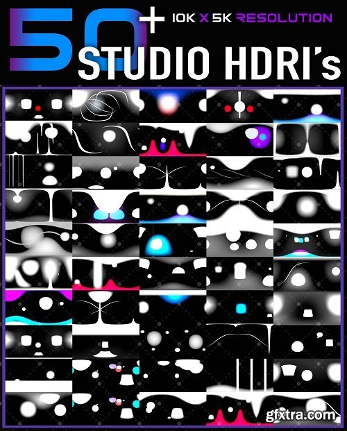 50+ High Quality Studio HDRI Pack