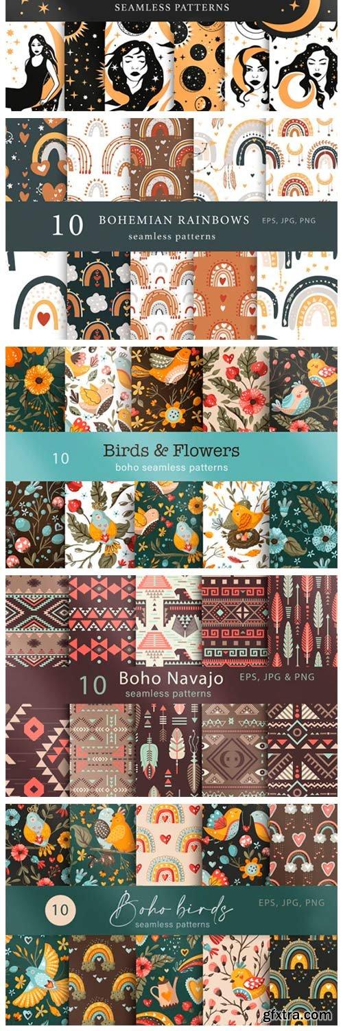 Seamless Boho Pattern Bundle 9941469