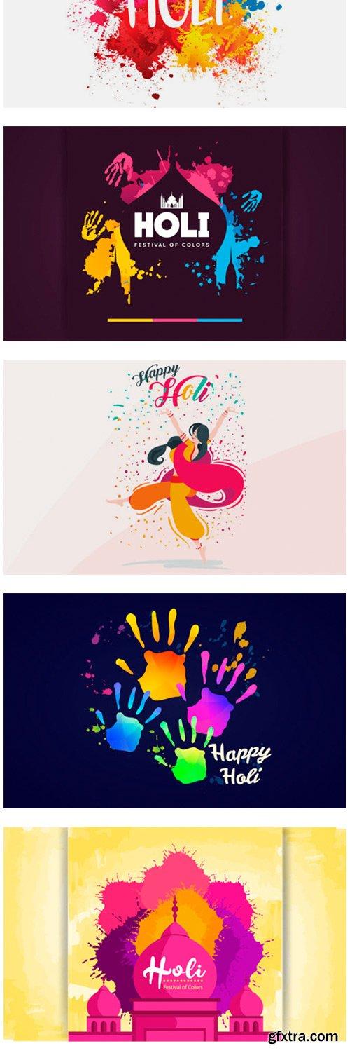 Happy Holi Festival Background Bundles 10126967