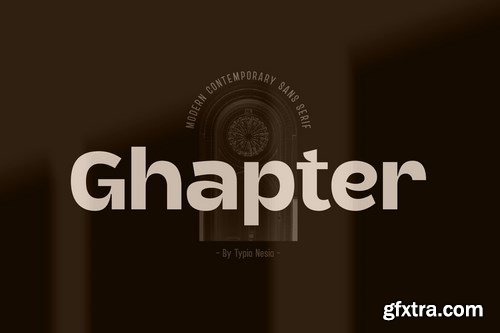 Ghapter - Modern Contemporary Sans Serif