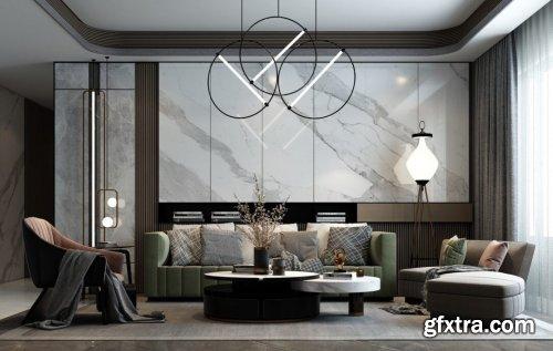 Livingroom 03 By Huy Hieu Lee