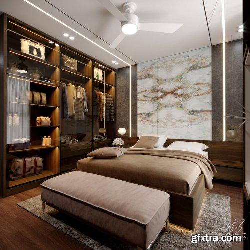 Modern Style Bedroom 628