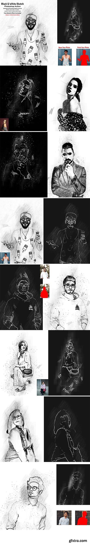 CreativeMarket - Black & White Sketch PS Action 5804649