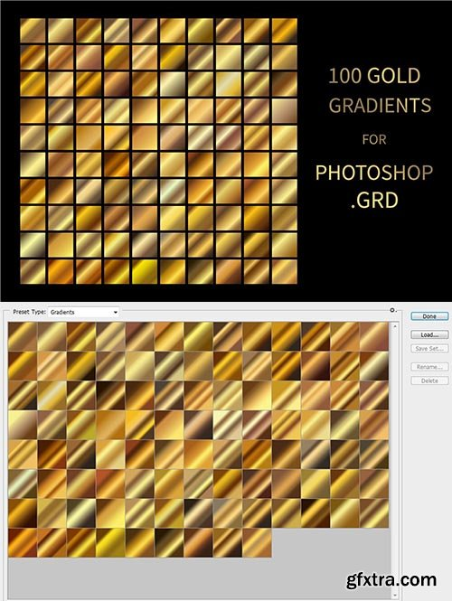 CreativeMarket - Gold Gradients for Photoshop .GRD 5915141
