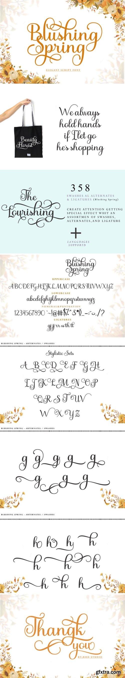 Blushing Spring Font