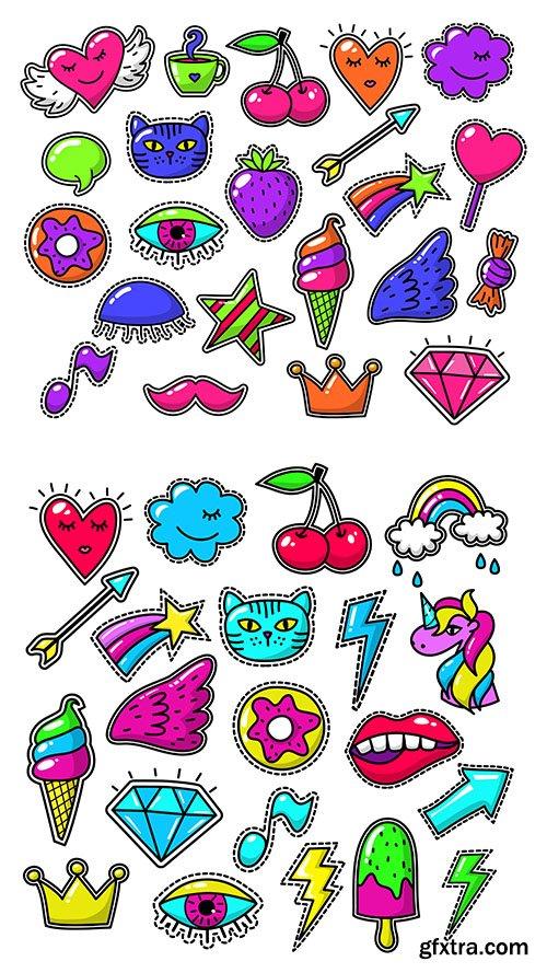 Love fashion stickers set