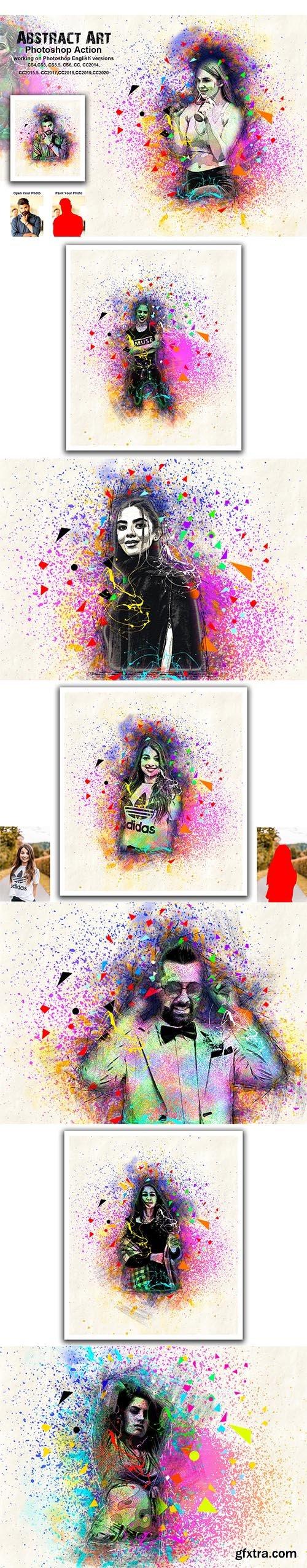 CreativeMarket - Abstract Art Photoshop Action 5480258