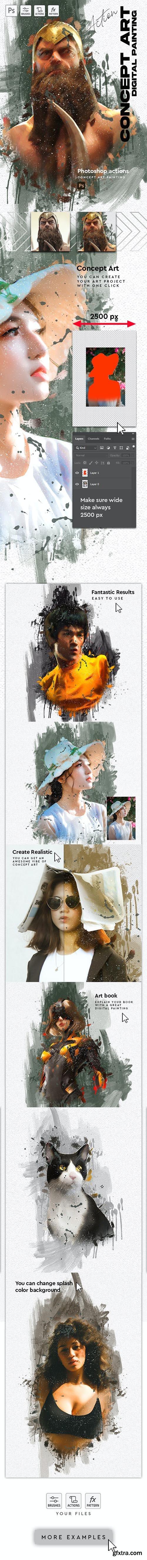 GraphicRiver - Concept Art - Digital Painting Photoshop Action 30363879
