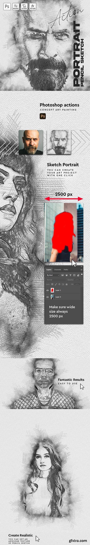 GraphicRiver - Sketch Portrait - Pencil Photoshop Action 30365021