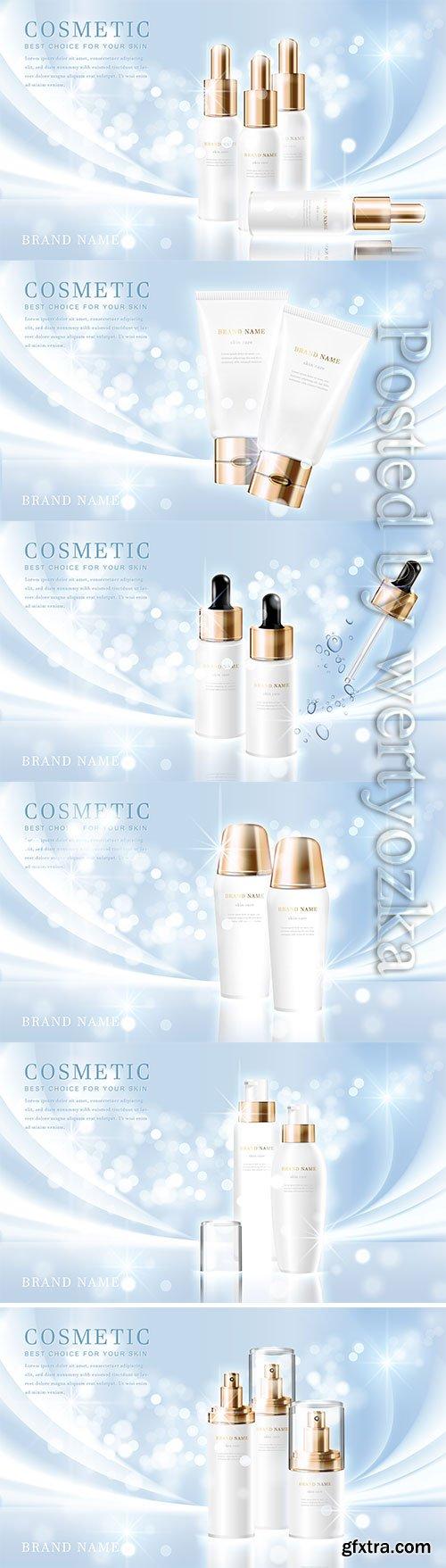 3d elegant cosmetic tube bottle