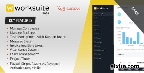 CodeCanyon - Worksuite Saas v3.9.2 - Project Management System - 23263417 - NULLED