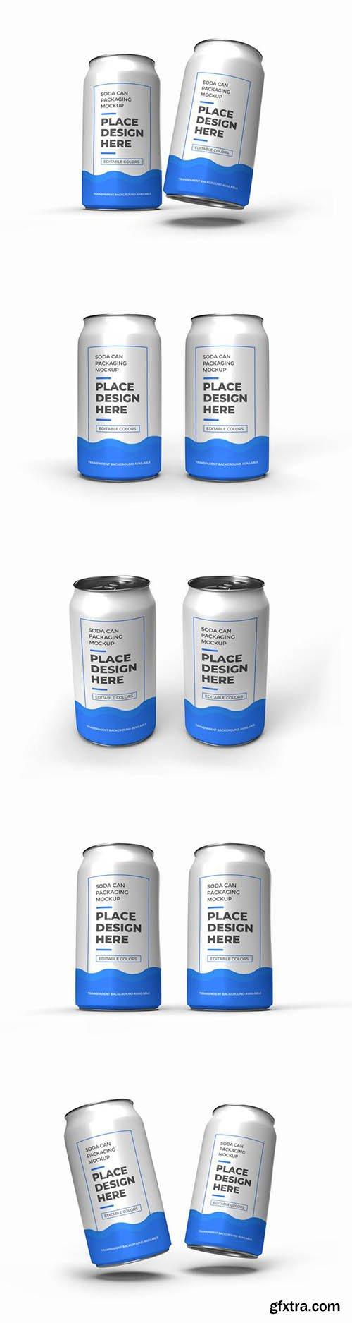 Soda can packaging mockup 2