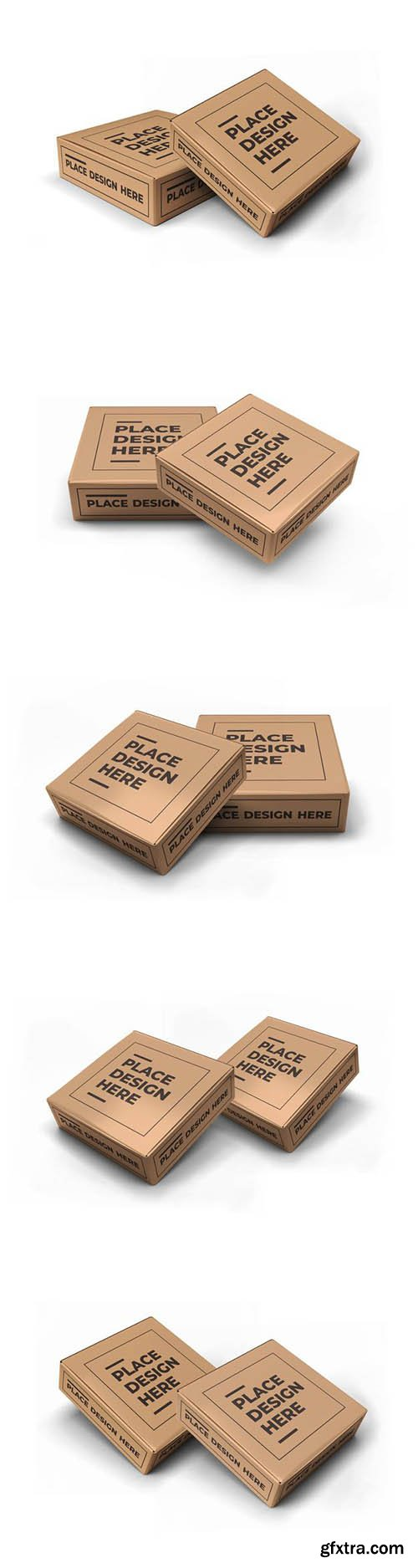 Small square box packaging mockup