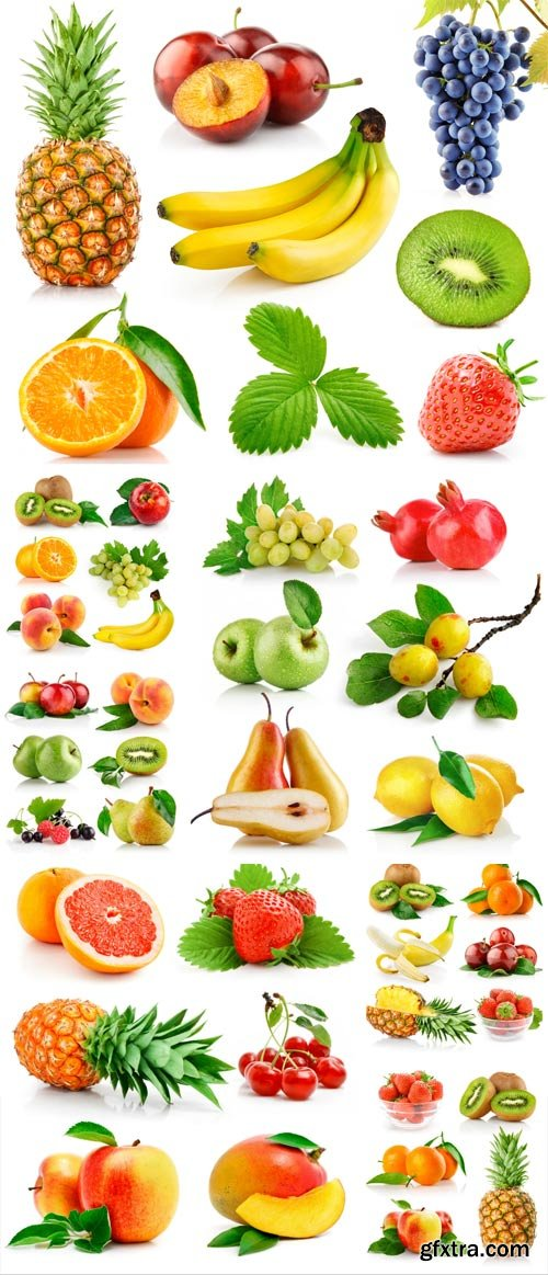 Citrus fruits and berries stock photo