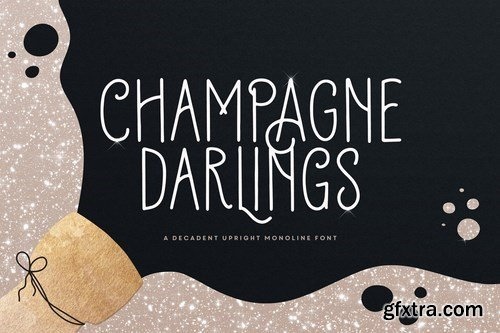 Champagne Darlings Typeface