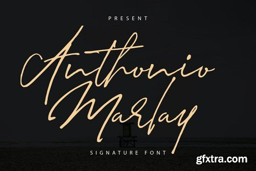 Anthonio Marlay Signature Font