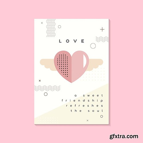 Valentines day poster and card vector