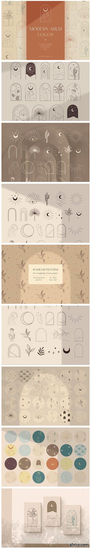 Modern Arch Logo Designs. Bohemian. Arc. 10090395