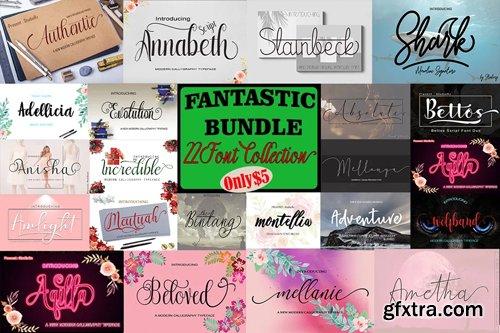 Fantastic Bundle - 22 Font Collection