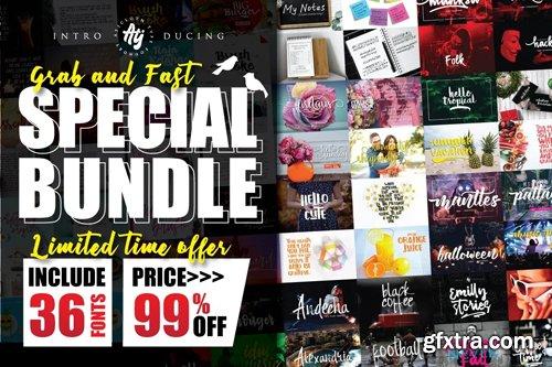 Special Bundle - 36 Fonts